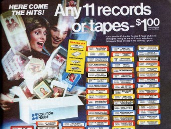 Columbia House Record Club Advertisement