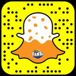 A Fanta Snapcode