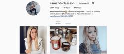 Screenshot of an influencers Instagram account