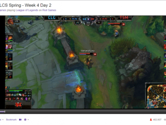 LoL spring finals 2015 viewer count screen capture